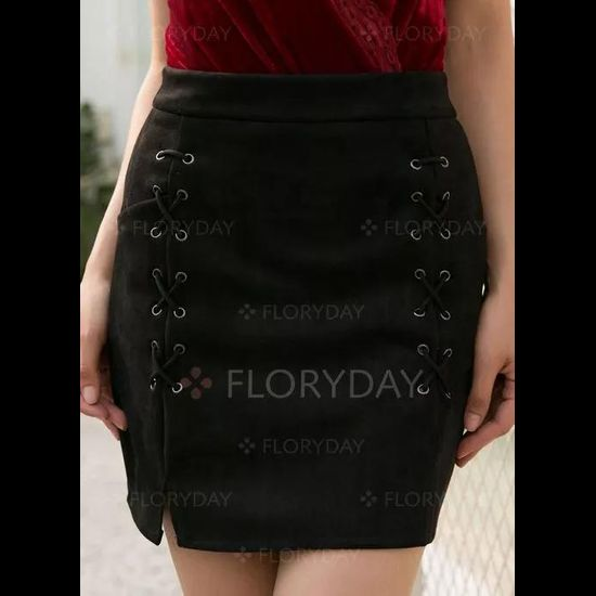 Above Knee Casual Skirts