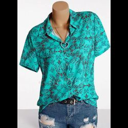 Casual Collar Short Sleeve Blouses
