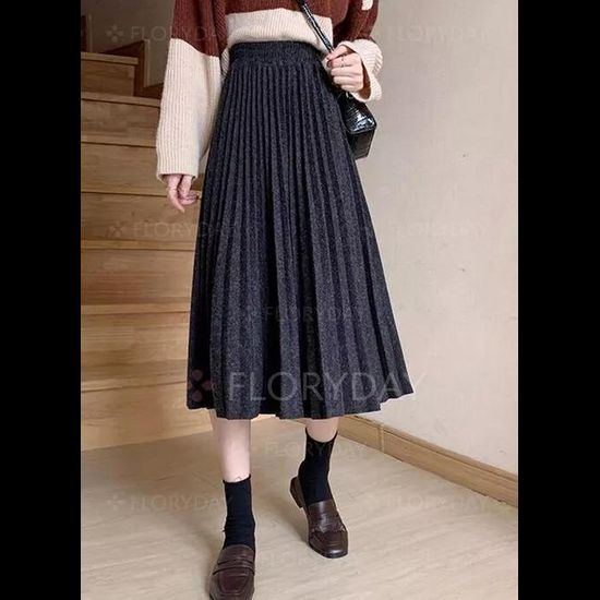Mid-Calf Casual Skirts