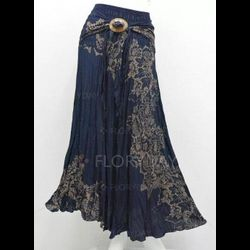 Floral Maxi Casual Sashes Skirts